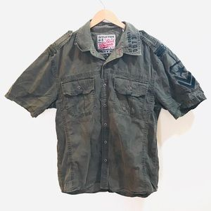 [Affliction] Army Style Button Up XL Slim